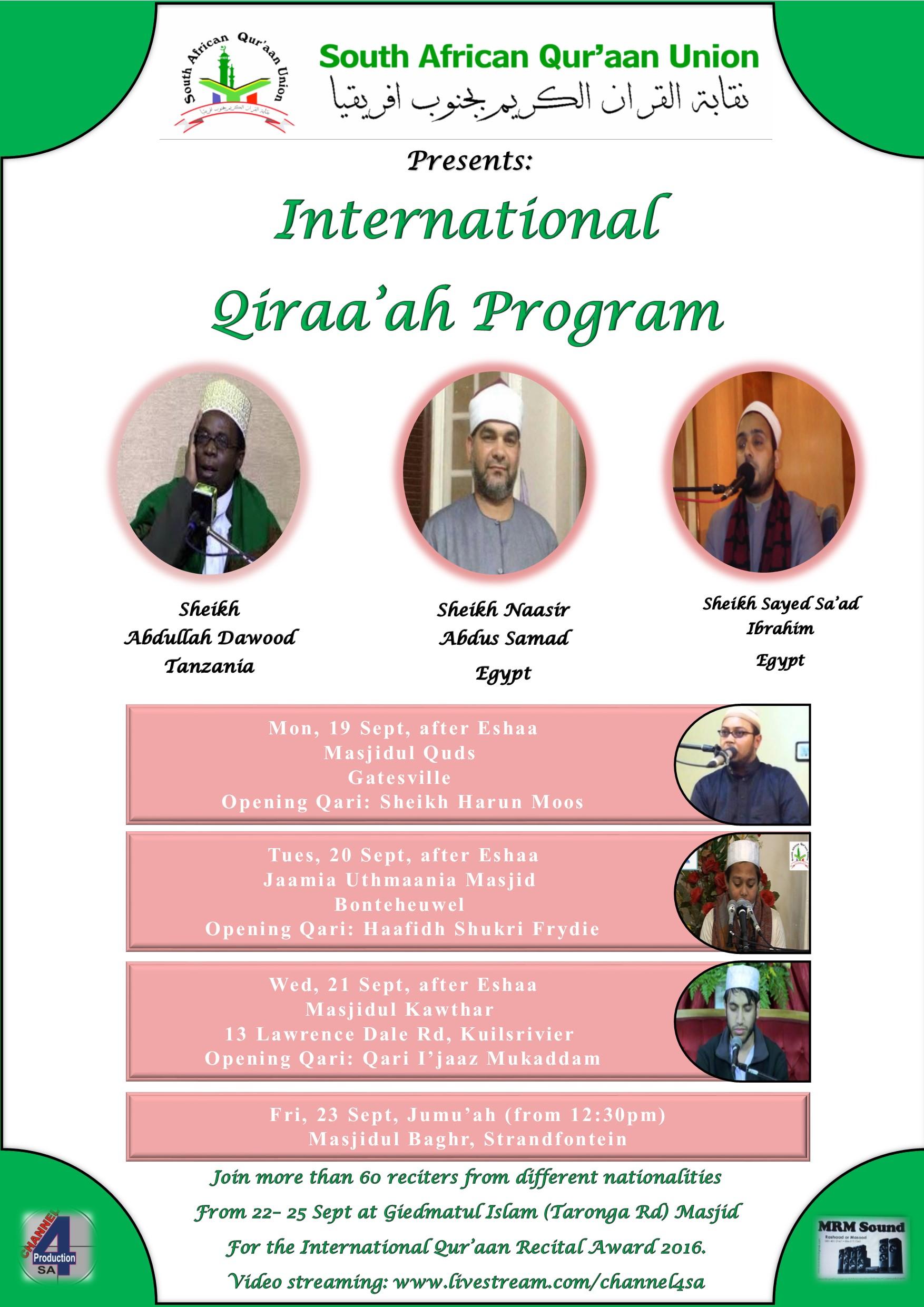 IQRA Tour Poster